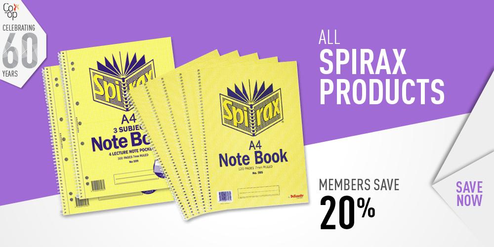 Members save 20% on Spirax