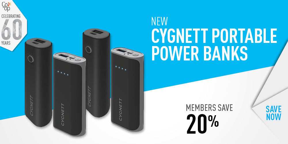 Cygnett Portable Power Banks Save 20%