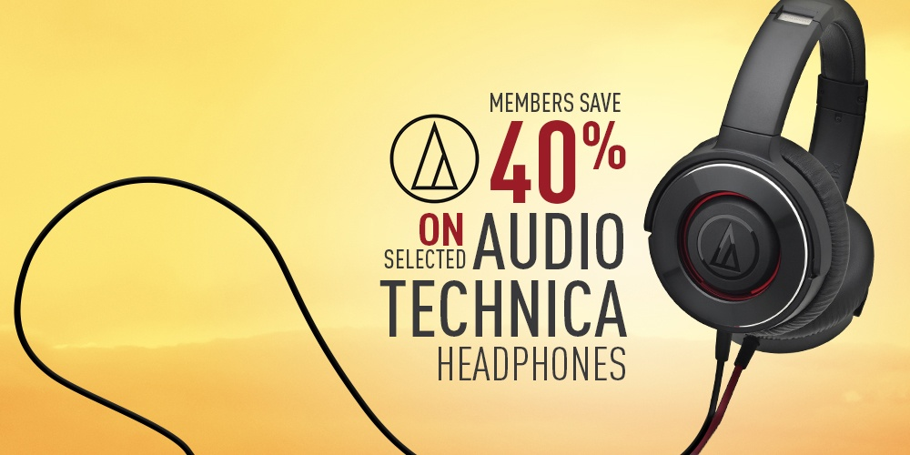 40% off selected Audio-Technica Products